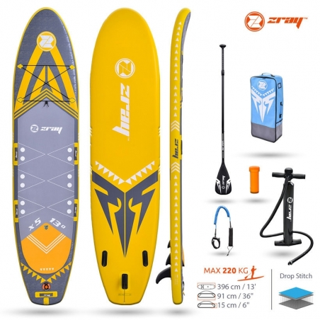 Paddle gonflable : SUP Zray X5 X-RIDER XL 13'