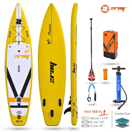 Paddle gonflable : SUP Zray FURY DUAL 11'6