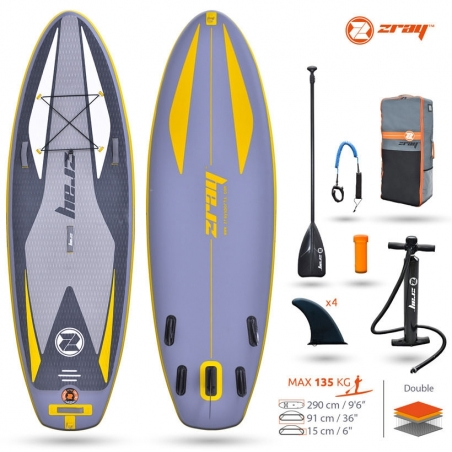 """Paddle gonflable : SUP Zray SNAPPER 9'6"""""""