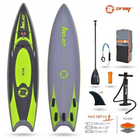 Paddle gonflable: SUP Zray SNAPPER PRO 11'