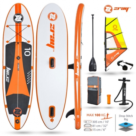 Paddle gonflable : SUP Zray W1 - Pack avec voile
