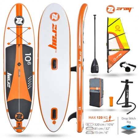 Paddle gonflable : SUP Zray W2 - Pack avec voile