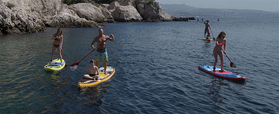 Stand up paddle gonflable en mer